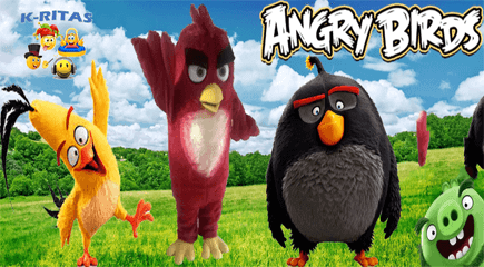 Red Angry Birds Para Fiestas Infantiles